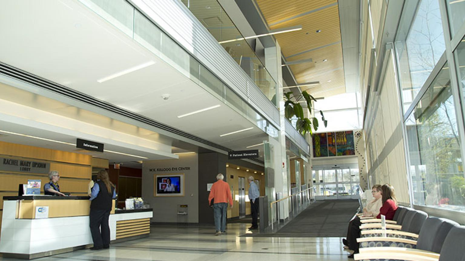 Lobby at the Kellogg Eye Center