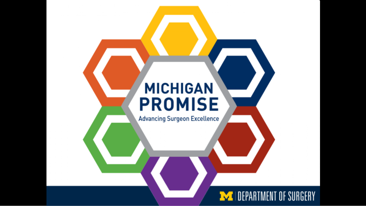 """The Michigan Promise graphic - first slide of """"This Is What We Stand For"""" presentation"""