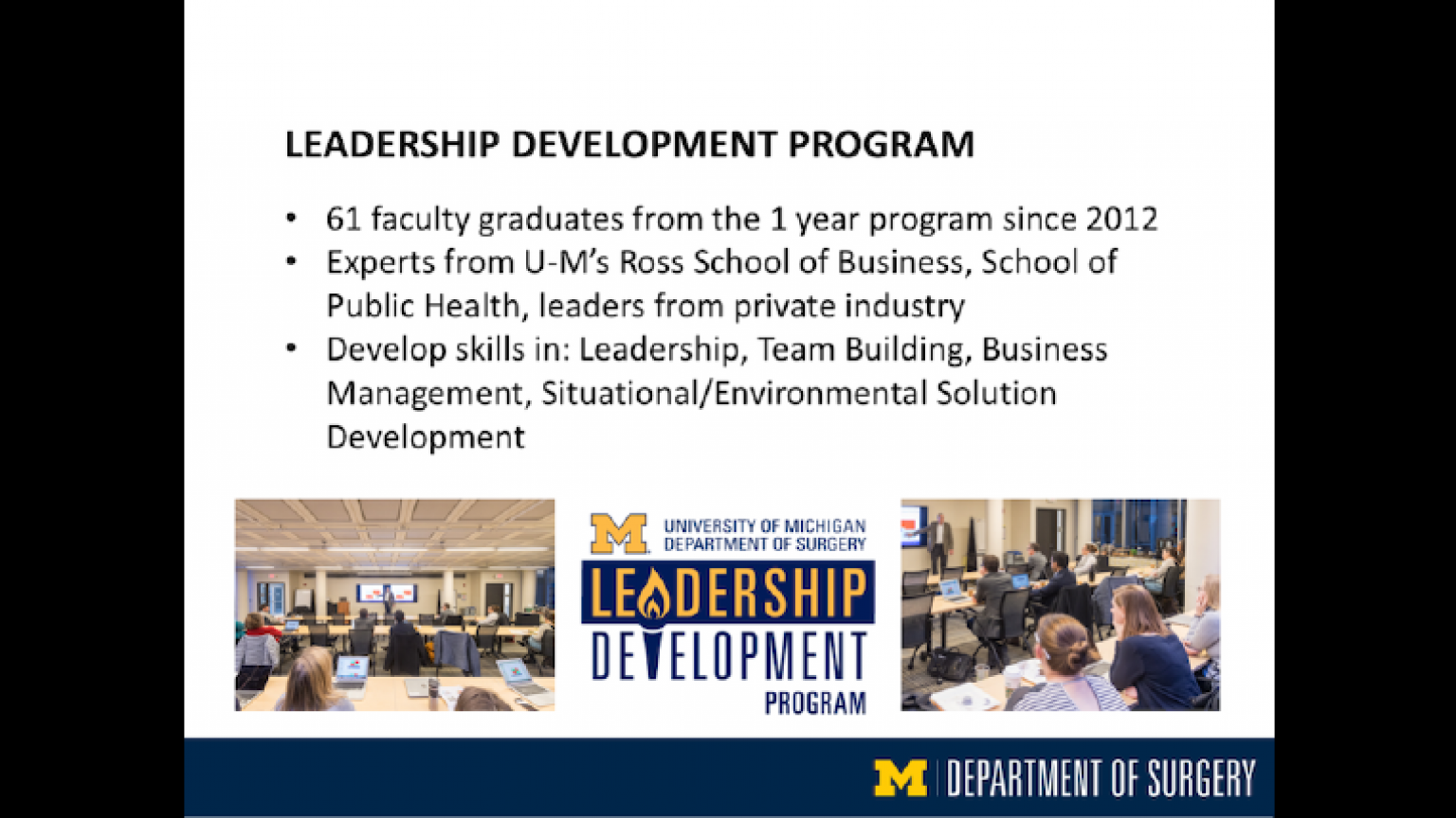 """Leadership Development Program - tenth slide of """"This Is What We Stand For"""" presentation"""