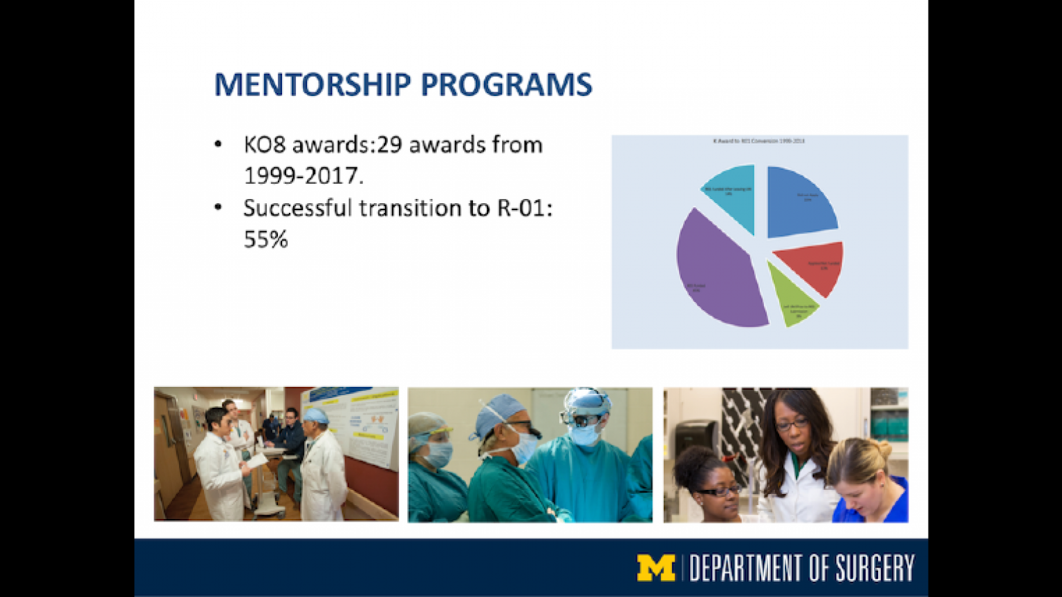 """Mentorship Programs - thirteenth slide of """"This Is What We Stand For"""" presentation"""
