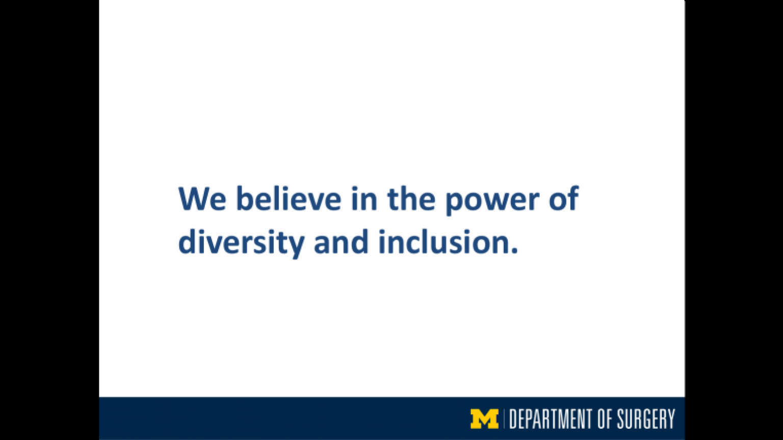 """""""We believe in the power of diversity and inclusion"""" - nineteenth slide of """"This Is What We Stand For"""" presentation"""