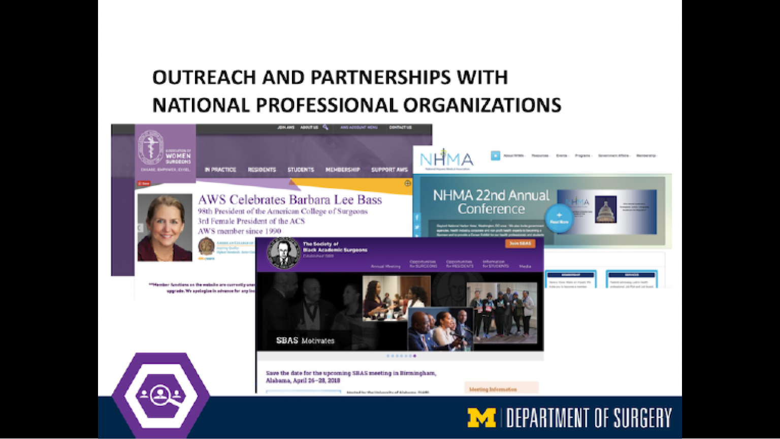 """Outreach and Partnerships with National Professional Organizations - thirty-eighth slide of """"This Is What We Stand For"""" presentation"""
