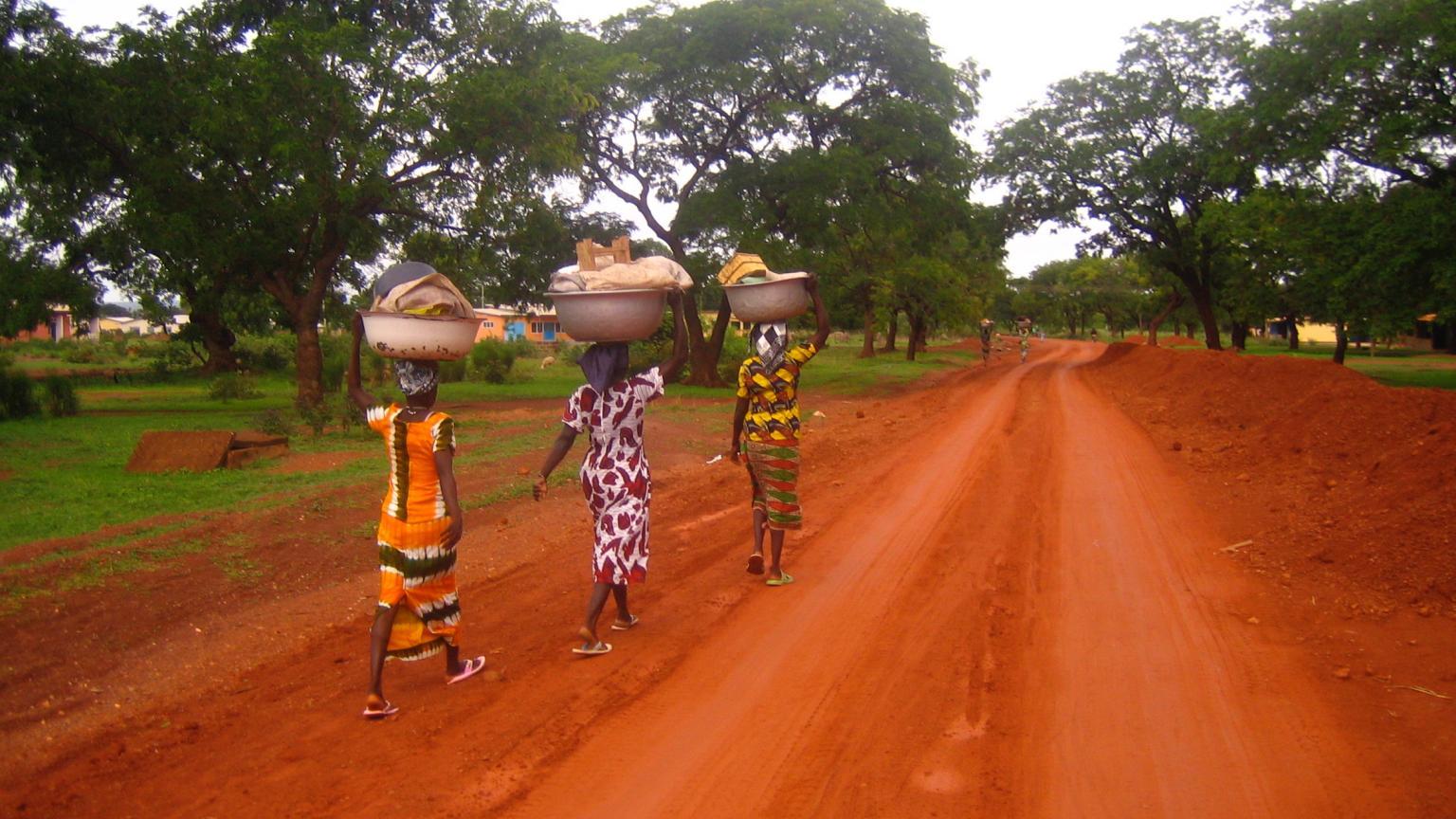 Women Walking to the Market