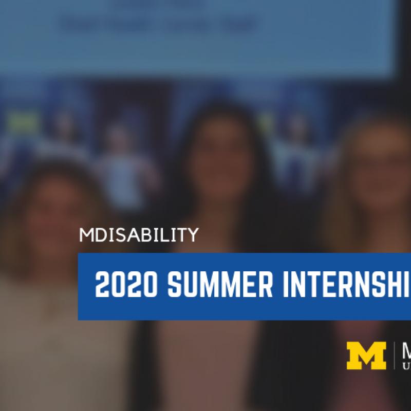 2020 MDisability Sumner Internship