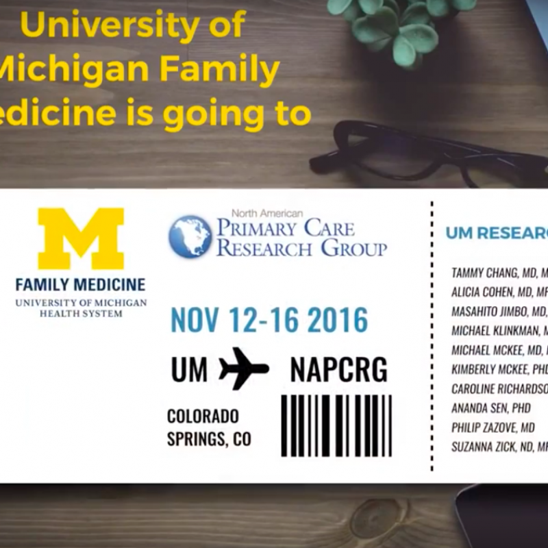 UM Family Medicine is going to NAPCRG