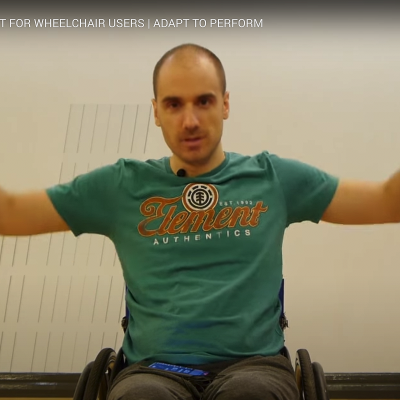 screenshot of youtube video hiit for wheelchair users