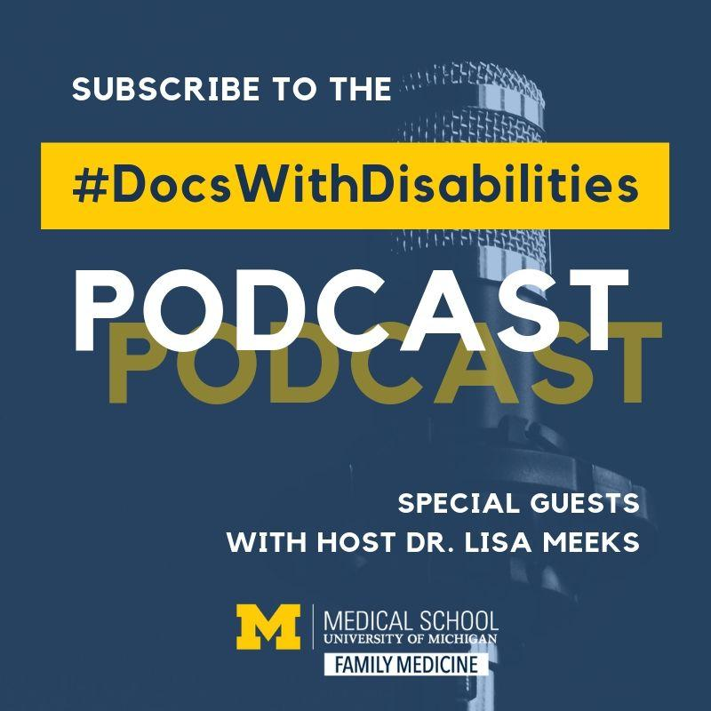 Docs with Disability podcast promo image