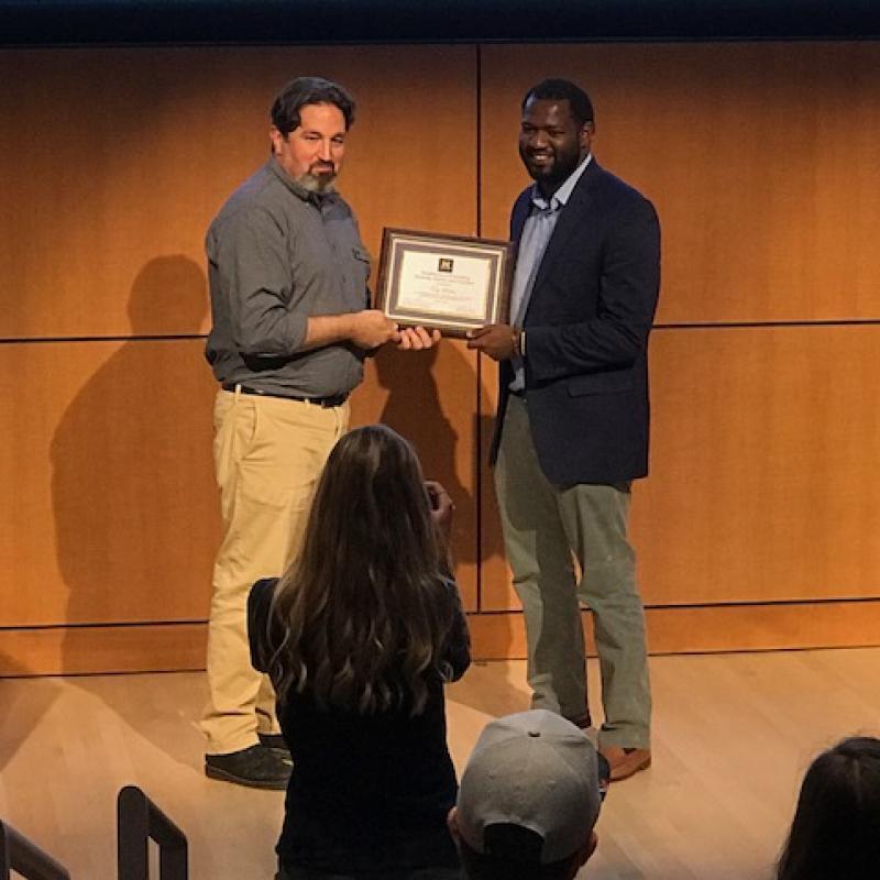 Tony Larking Receives Award