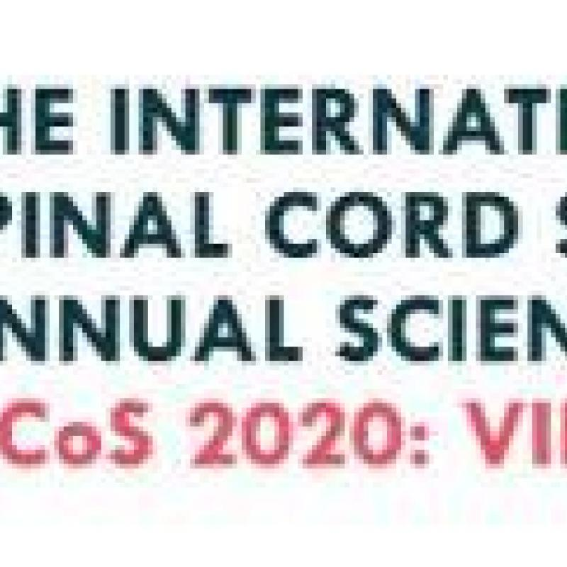 Official logo for the 59th annual International Spinal Cord Society (ISCoS) Annual Scientific Meeting