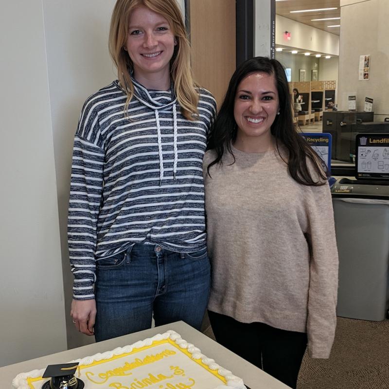 Gokul & Kobernik with Grad Cake