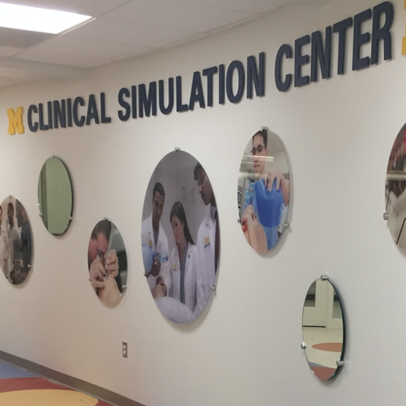 Clinical Simulation Center Sign