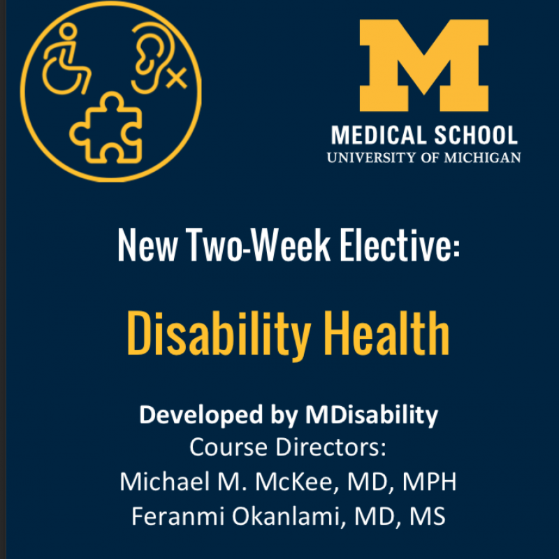 New two week elective disability health