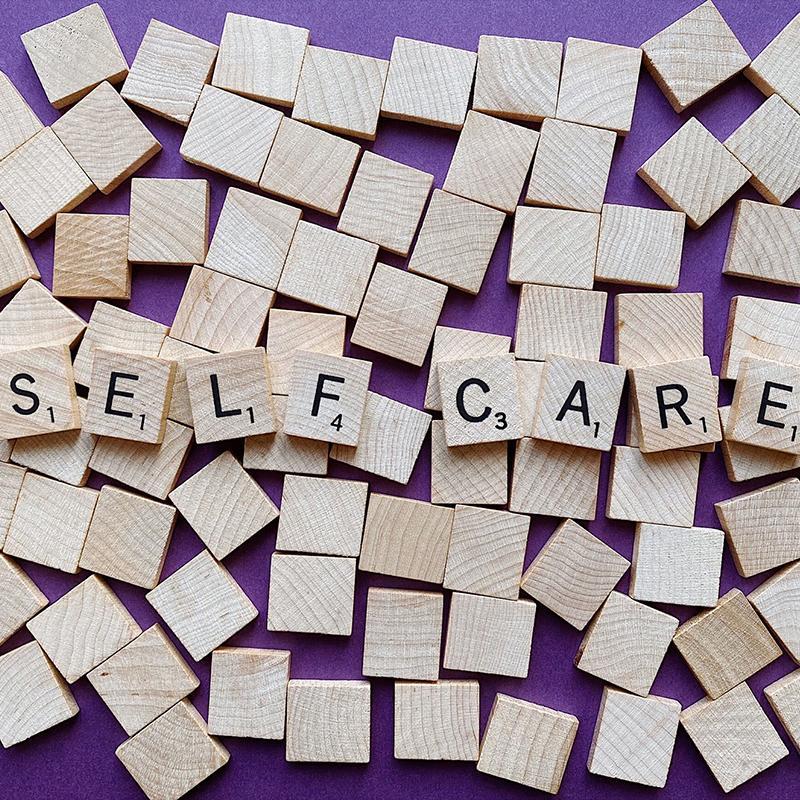 Self-Care letter tiles
