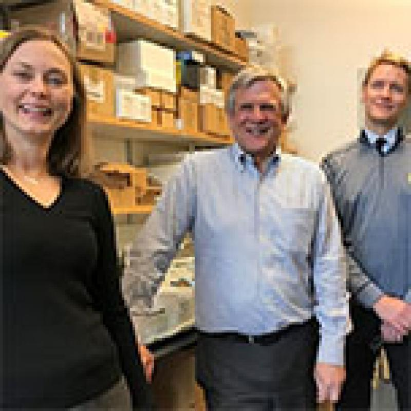 Photo of Michelle Kahlenberg, MD, PhD; Charles F. Burant, MD, PhD; and Johann Gudjonsson, MD, PhD.