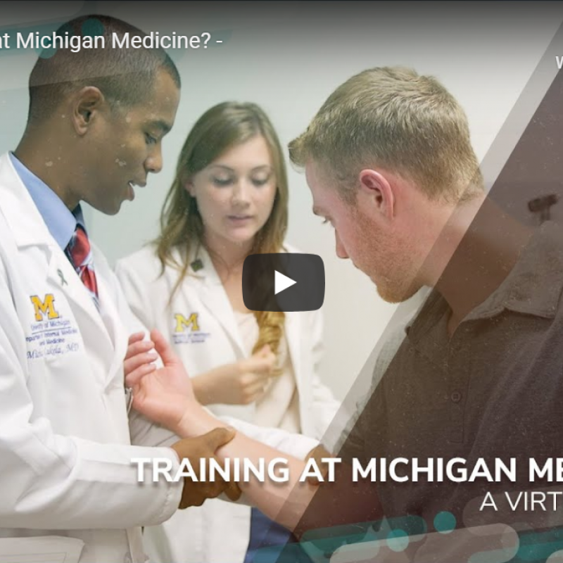 Why Train at Michigan Medicine Video Thumbnail