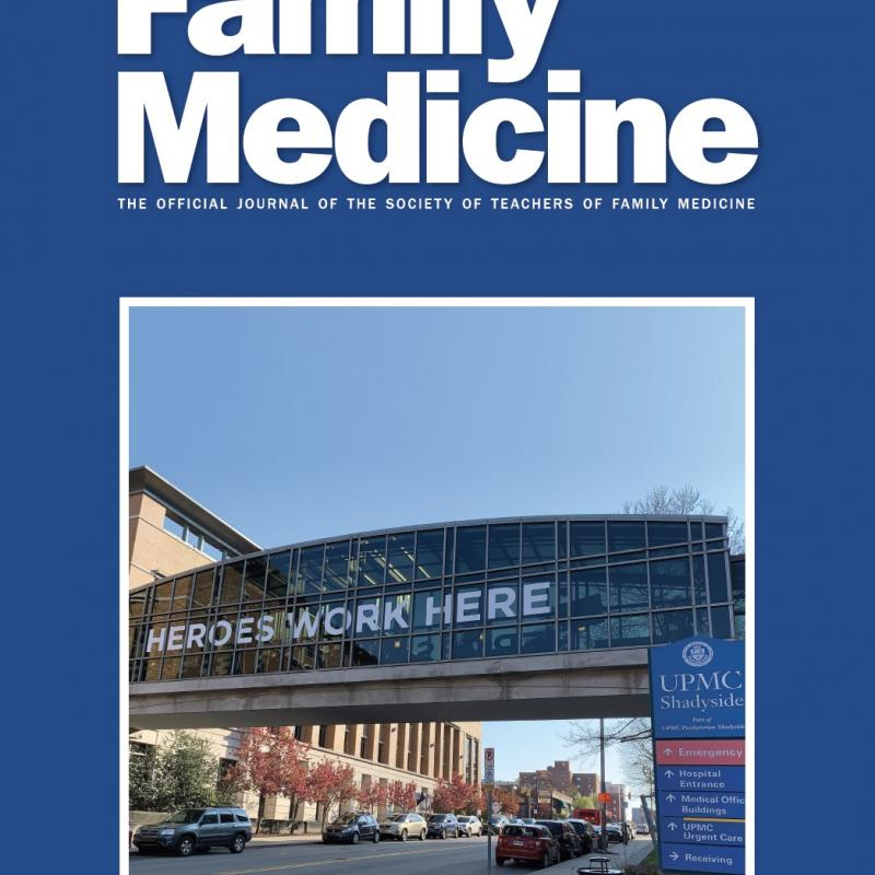 Family Medicine journal cover for July/August 2020
