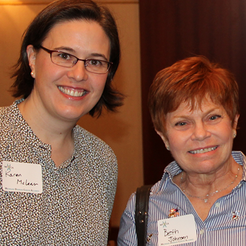 Karen McLean, M.D., Ph.D. and Beth J. Johnson