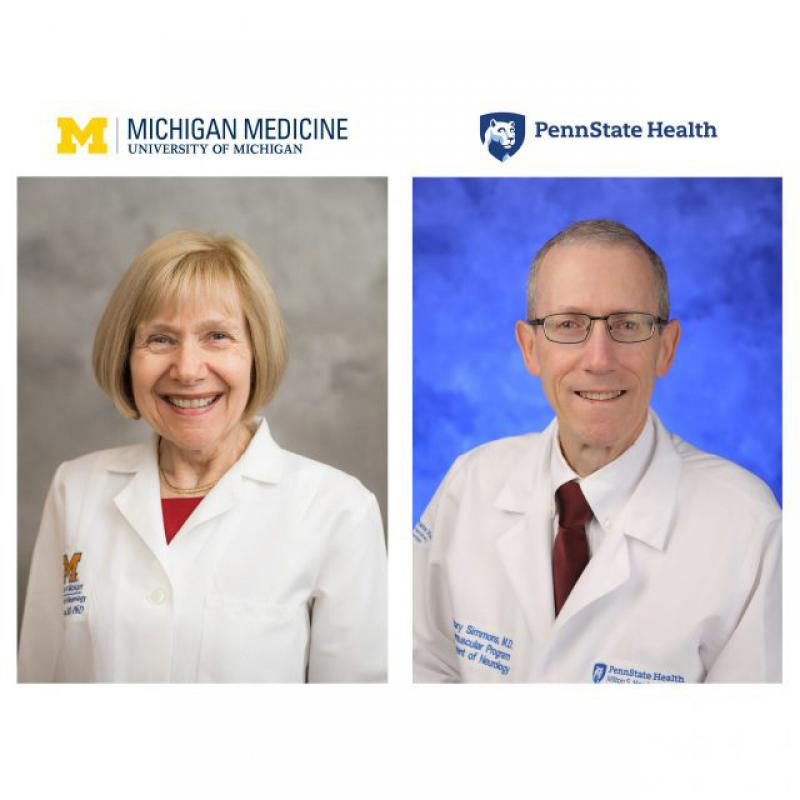 Dr. Eva Feldman and Dr. Zachary Simmons