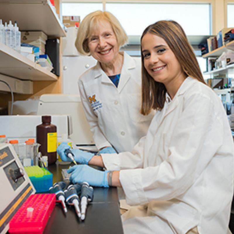 Dr. Eva Feldman and Dr. Stephanie Eid