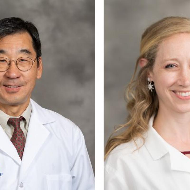 Bhumsoo Kim, Ph.D. and Sarah Elzinga, Ph.D. split