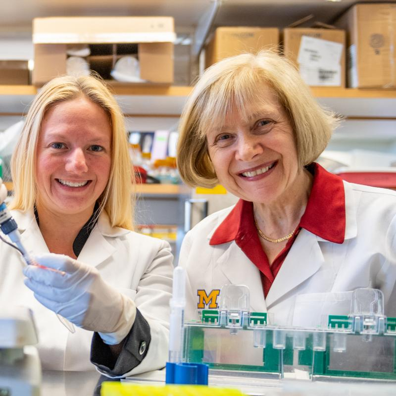 Amy Rumora, Ph.D. with Eva Feldman, M.D., Ph.D.