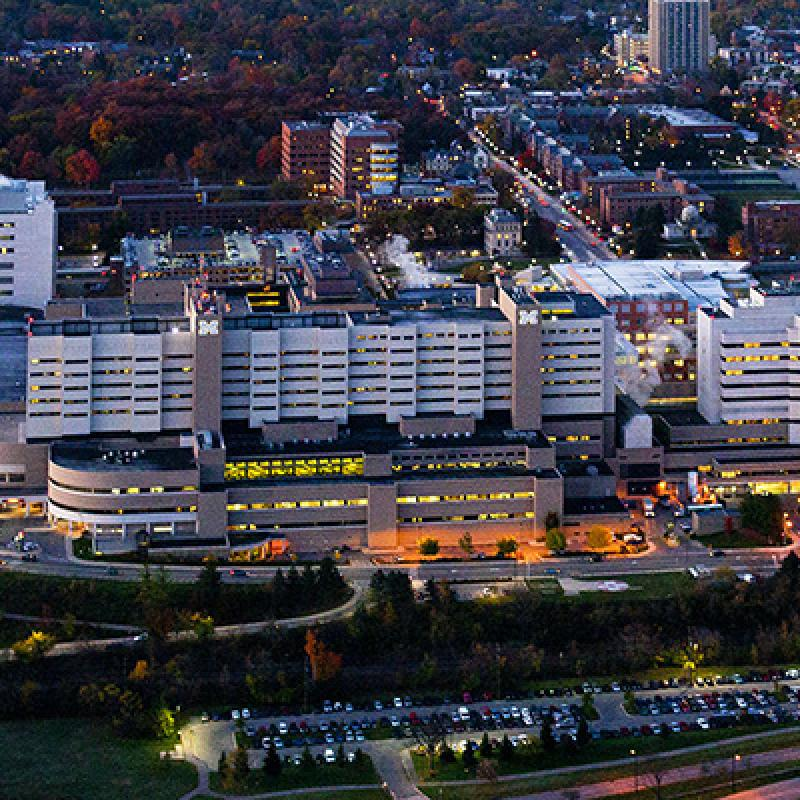 U-M Medical Campus Night