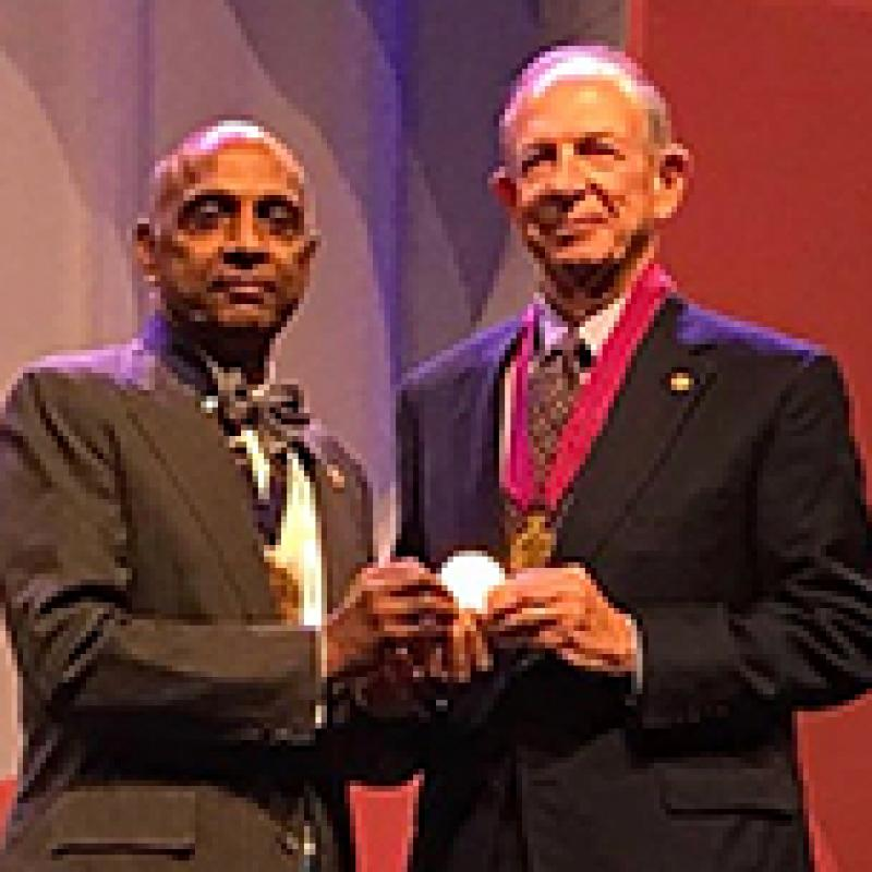 Paul R. Lichter, MD, MS, receives the Bernardo Streiff Award