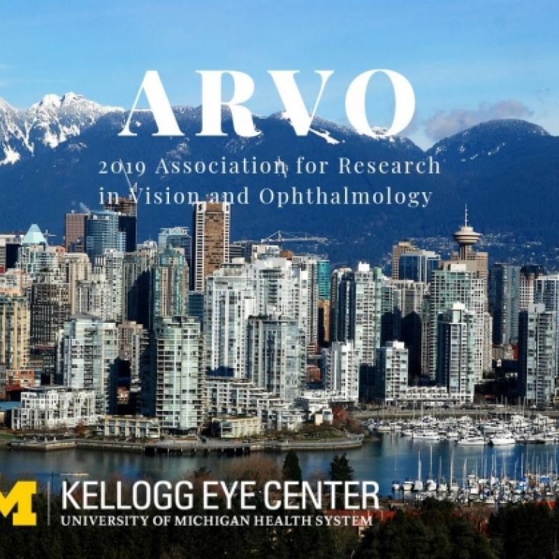 Image of Vancouver with ARVO 2019 and Kellogg Eye Center logo