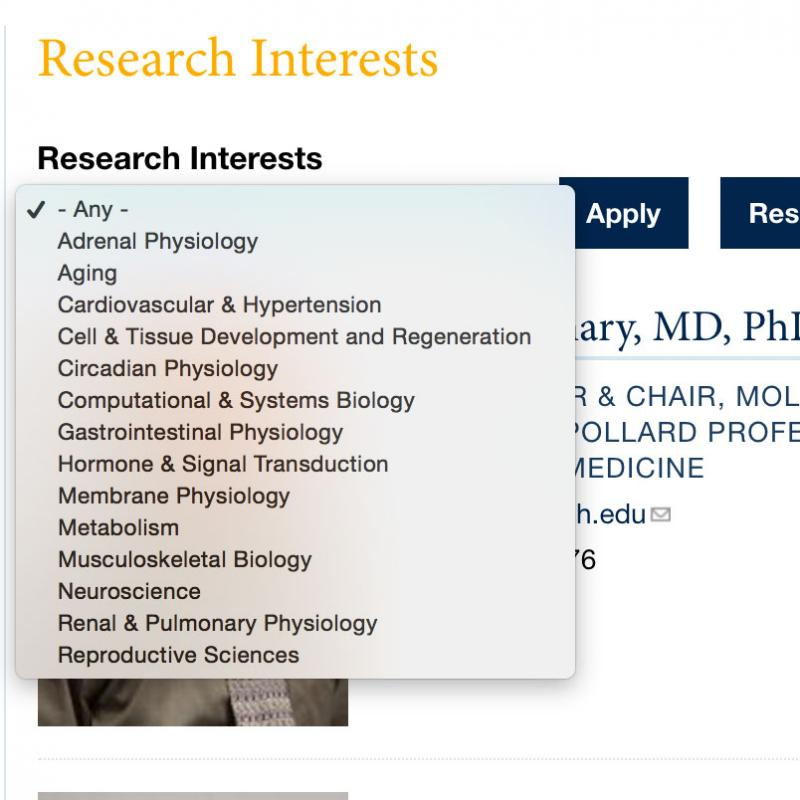 Sample Research Interests