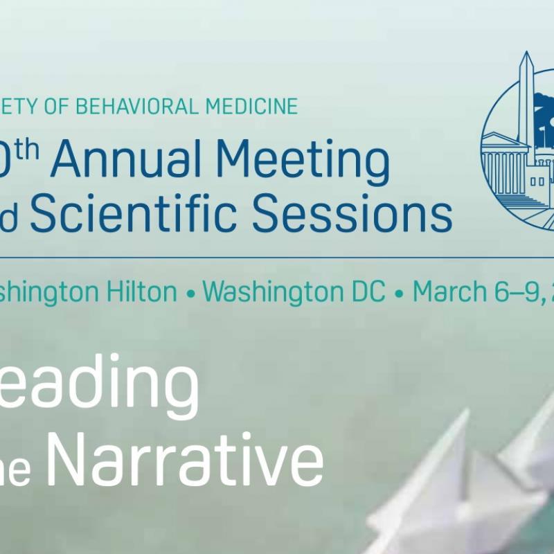 Society for Behavioral Medicine 2019 conference