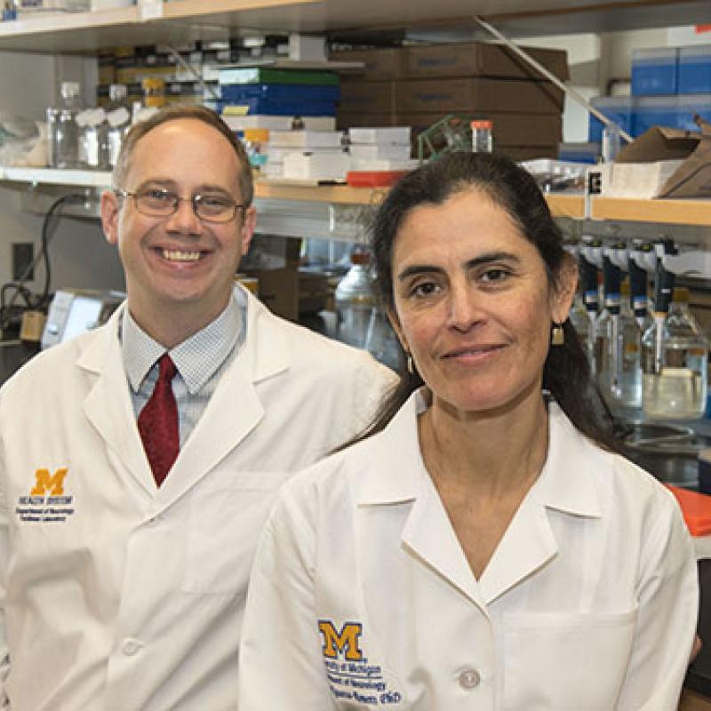 Dr. Claudia Figueroa-Romero and Dr. Benjamin Murdock