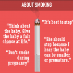 Advice to pregnant women about smoking