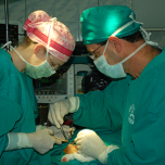 Surgeons in the operating room in Peru