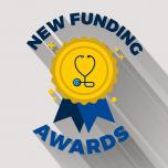 image of award ribbon with text New Research Awards