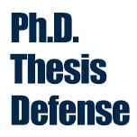 PhD Thesis Defense