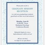 Reception for graduating residents
