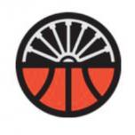 Circle Logo: Bottom half looks like a basketball, top half looks like a wheel.
