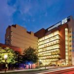 Kellogg Eye Center building at night