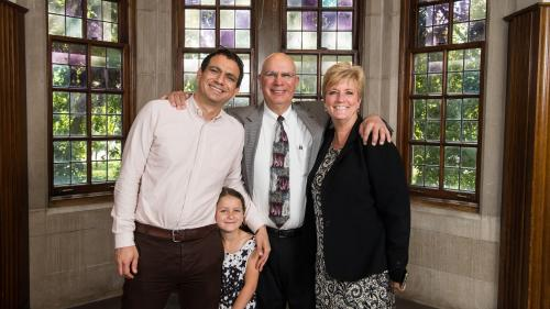 Dr. Friedman and family