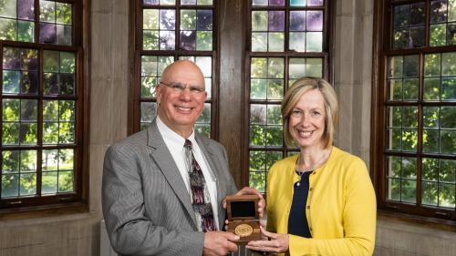 Dr. Friedman and Dr. Carol Bradford