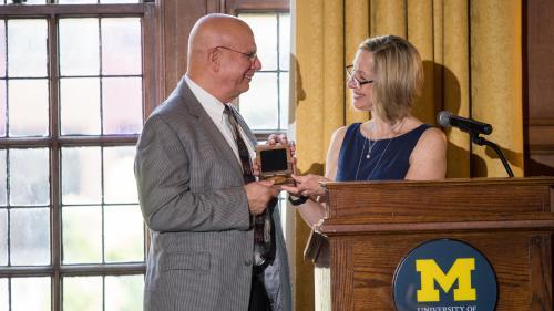 Dr. Friedman receives his medal