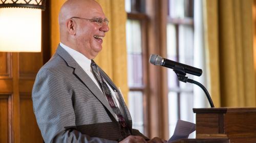 Dr. Friedman at the podium