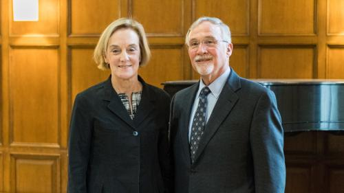 Dr. Cooke with Dr. Woolliscroft