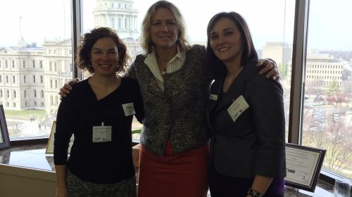 Anne Kittendorf, Representative Gretchen Driskell, and Kelly Arnez