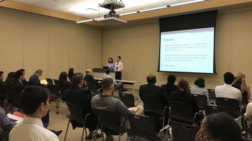 Drs. Policht & Oldfield discuss palliative care at MI Research Day
