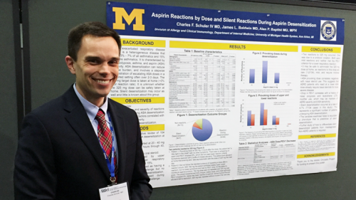 U-M Allergy & Clinical Immunology Fellow Charles Schuler