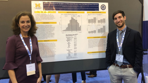 Drs. Megan Haymart and Josh Evron at 2019 Endo Society Meeting
