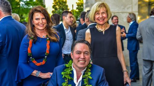 Dr. Eva Feldman, Derek Wood and Tammy Wood