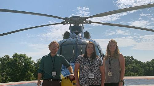Pediatric Critical Care fellows with Survival Flight helicopter