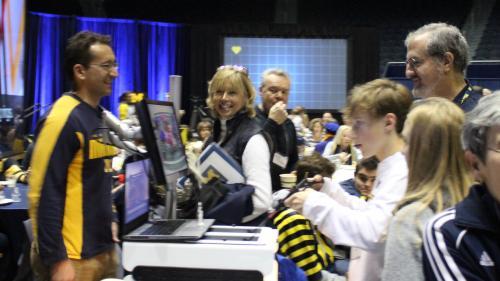 Laparoscopic Challenge at OSU Tailgate Draws a Crowd
